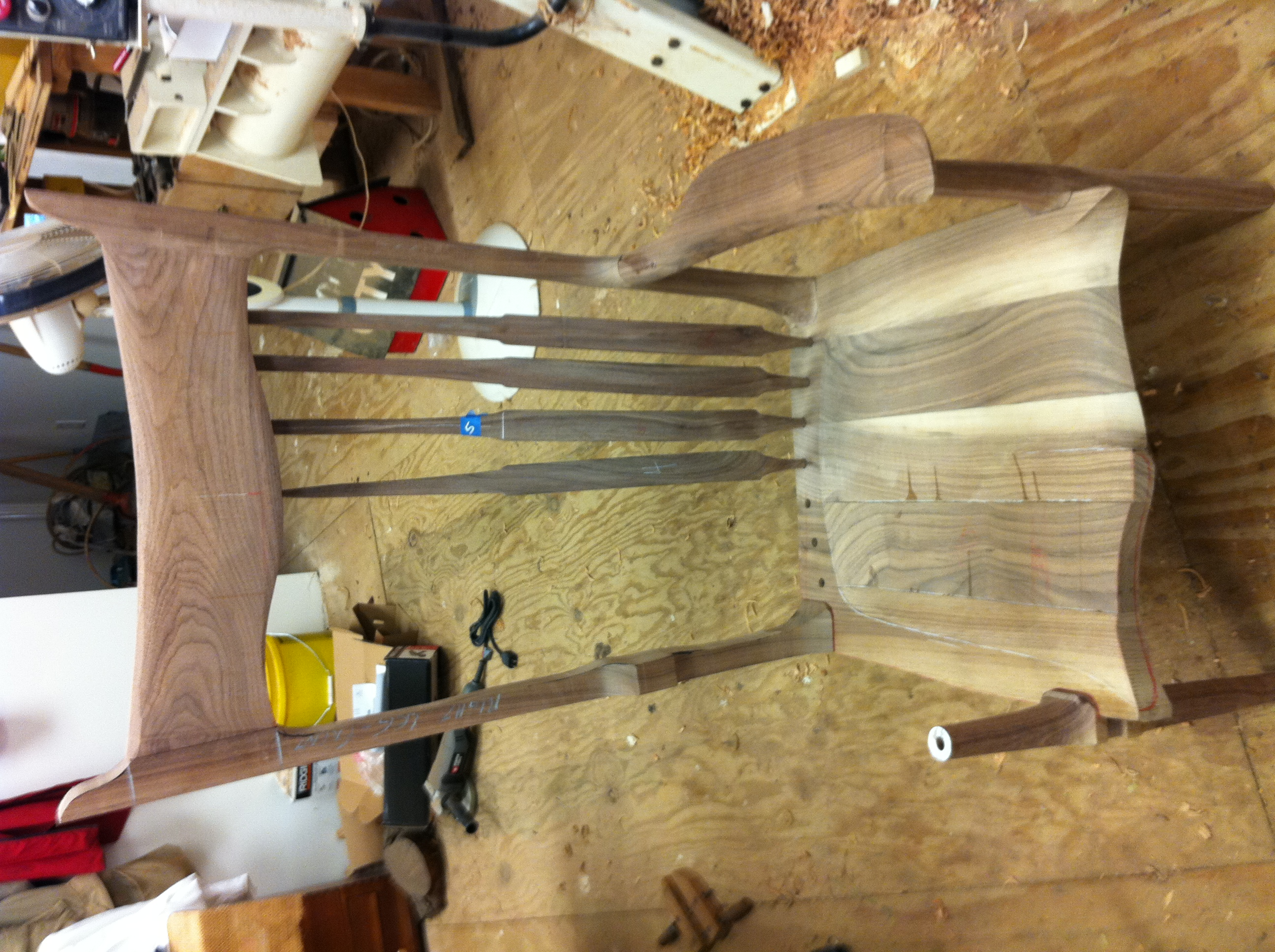 From the Chair-Man: Progress Report on the Maloof Inspired Rocker Kit