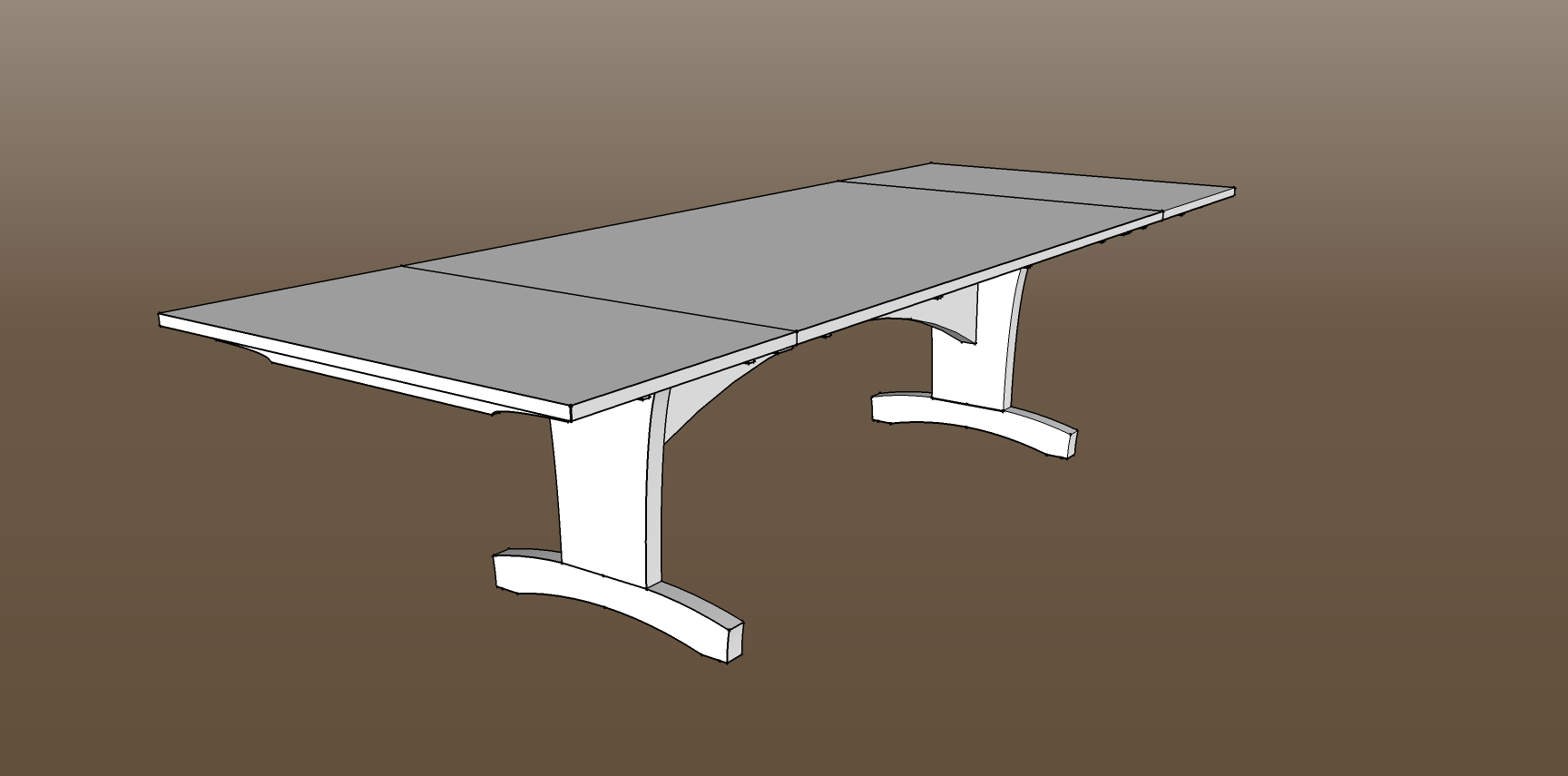Incredible Trestle Dining Table Plans 1728 x 855 · 27 kB · png
