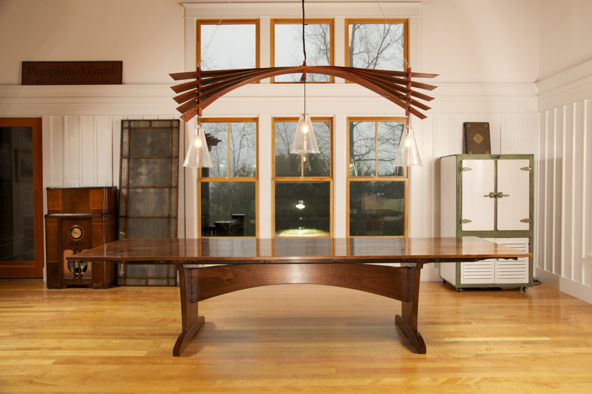The Dining Room Table Stretcher Design Is From The Chandelier