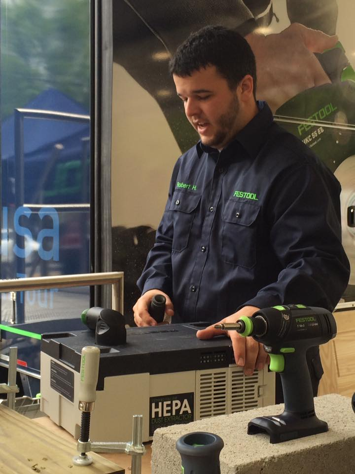 Robert Hatfield discussing the new Festool CT SYS HEPA Systainer Dust Extractor